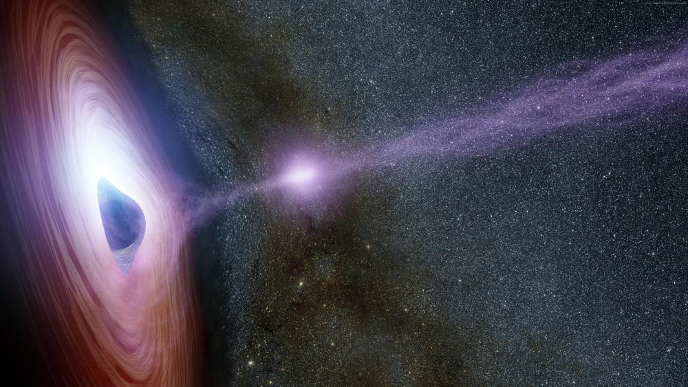 Supermassive black hole wallpaper