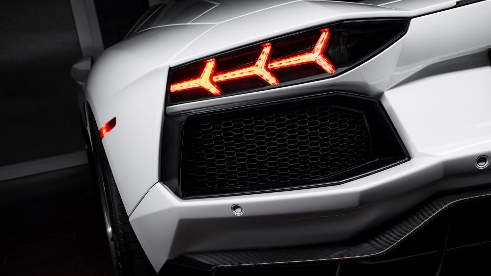 Lamborghini Aventador Roadster tail light wallpaper