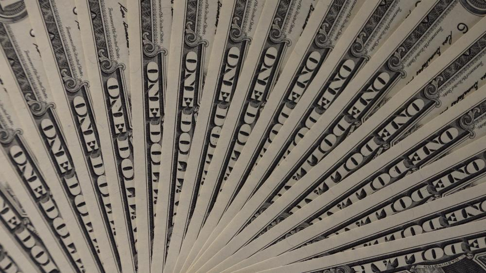 US Dollar Bills in Monochrome wallpaper