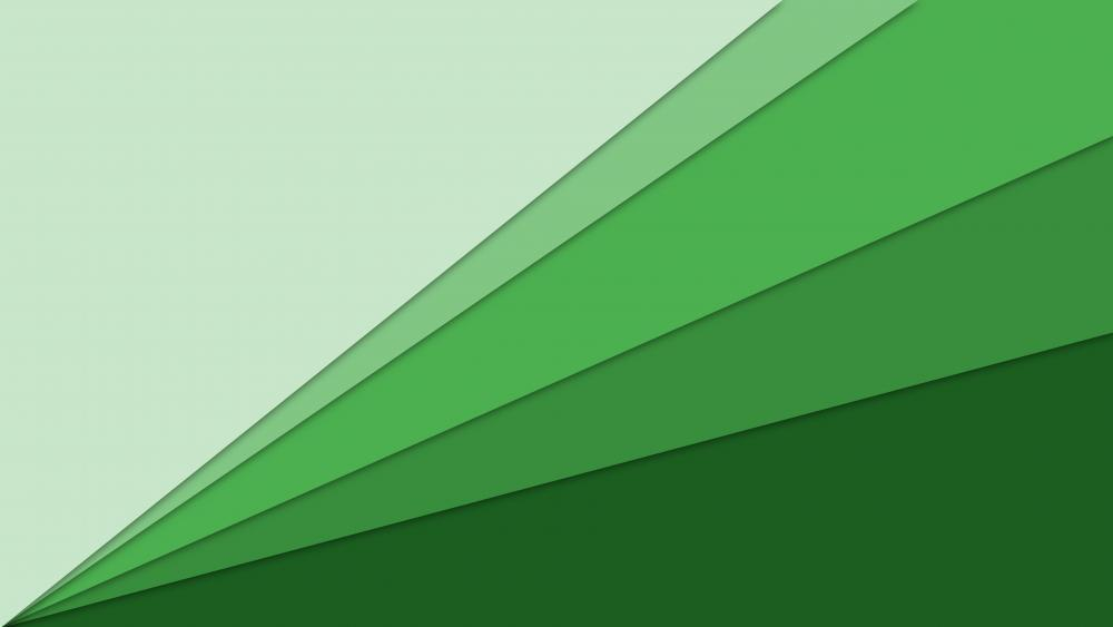 Green gradient material design art wallpaper
