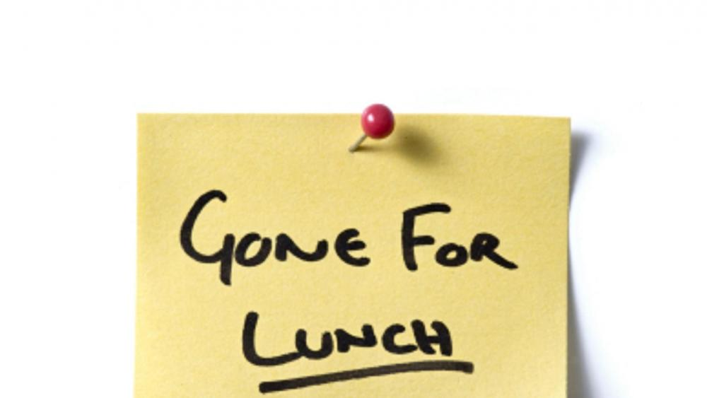 Gone for lunch wallpaper