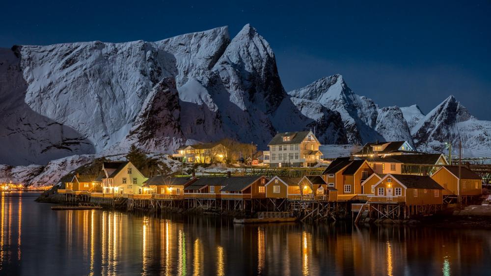 Sakrisoya (Lofoten Islands, Norway) wallpaper