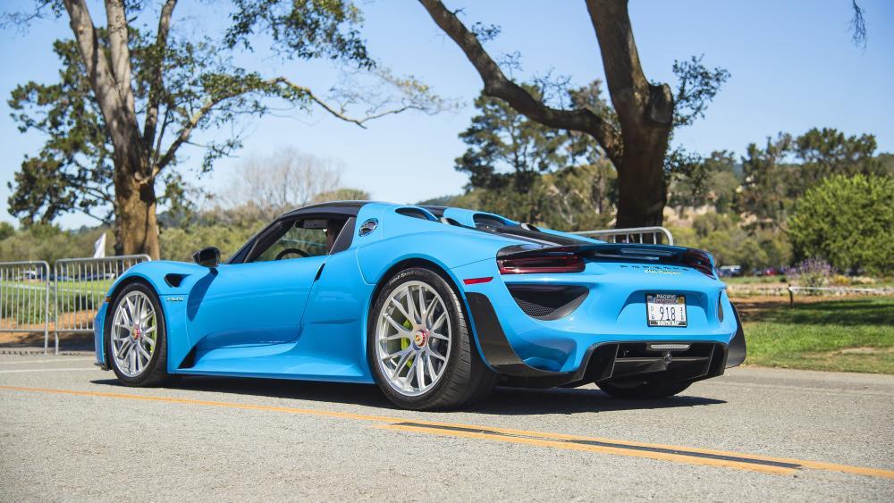 Blue Porsche 918 Spyder wallpaper