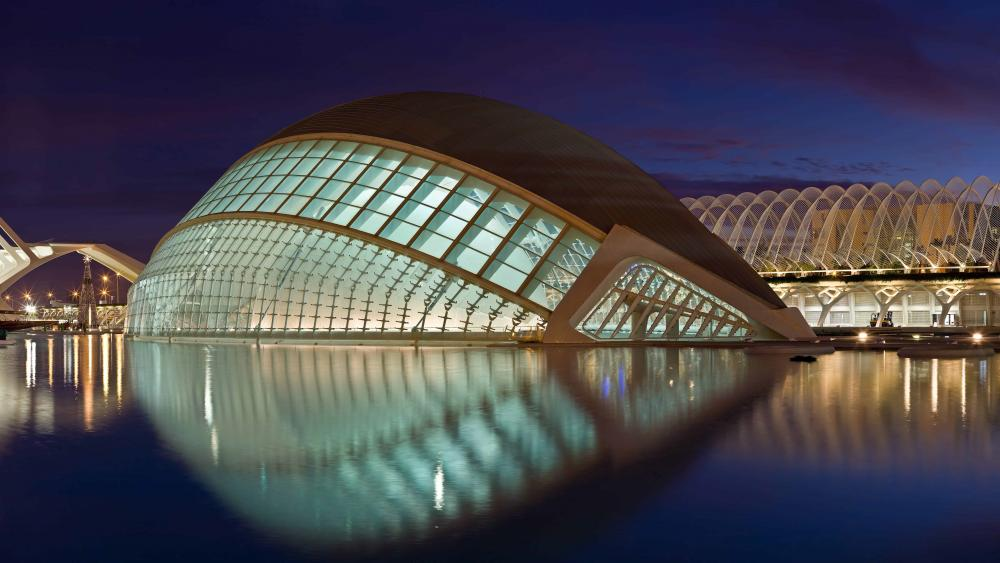 City of the Arts and the Sciences (Valencia, Spain) wallpaper