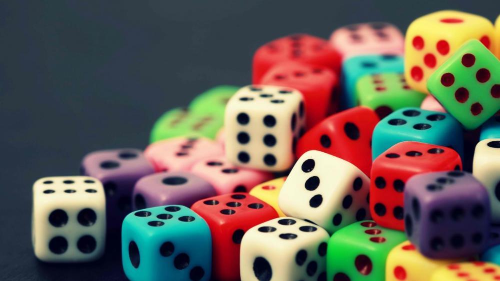 Colored dice wallpaper