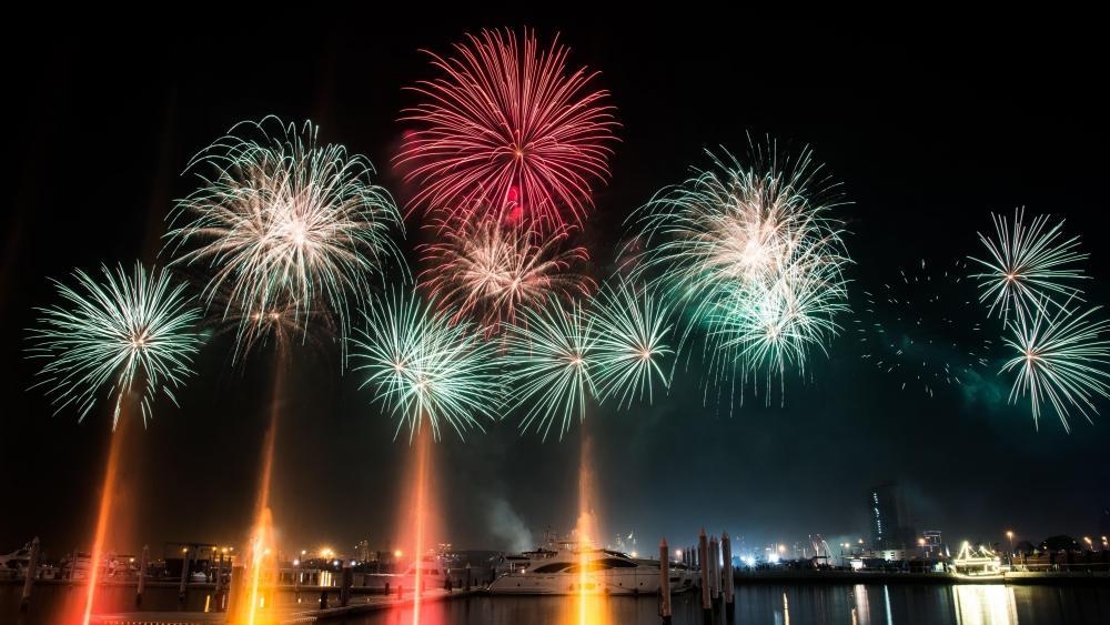 Dubai Fireworks wallpaper