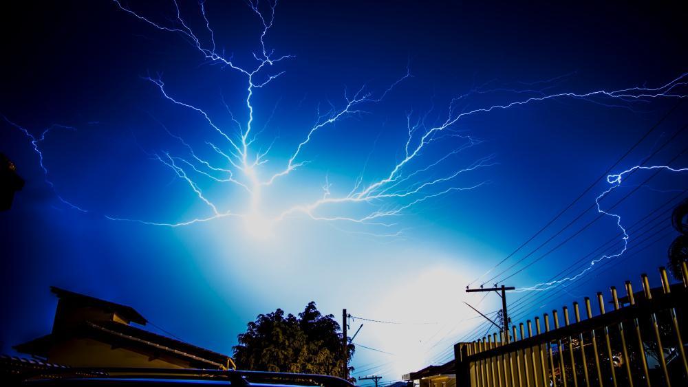 Night thunderstorm 🌩️ wallpaper
