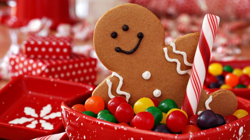 Christmas gingerbread wallpaper