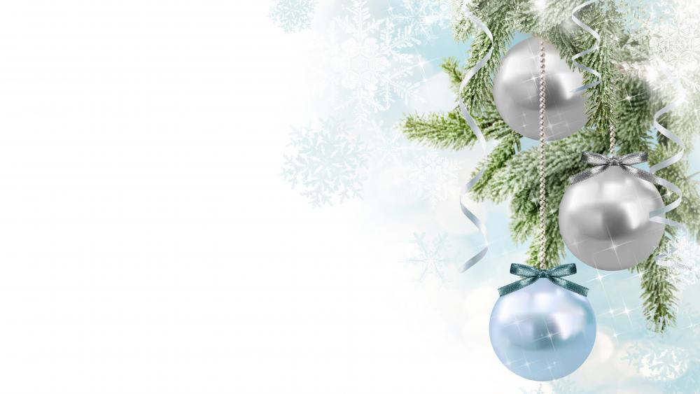 8K Christmas balls wallpaper