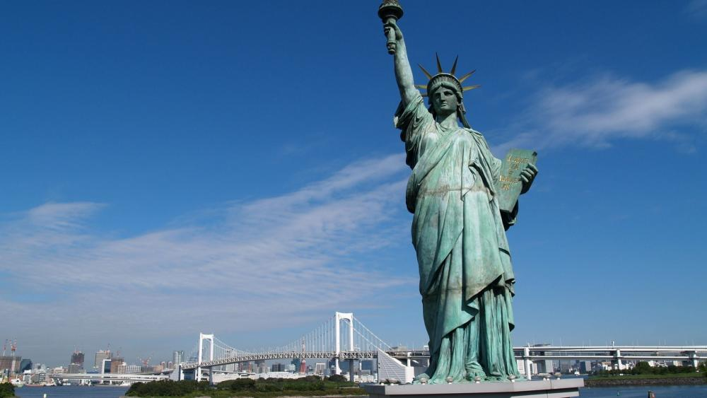 Odaiba Statue of Liberty wallpaper