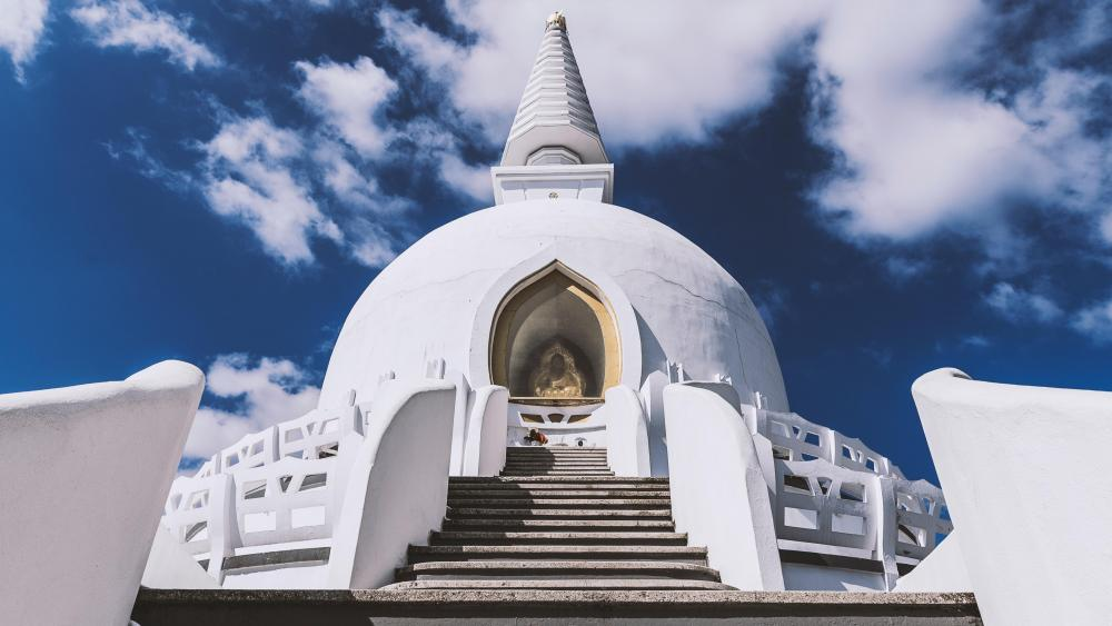 Buddhist stupa wallpaper