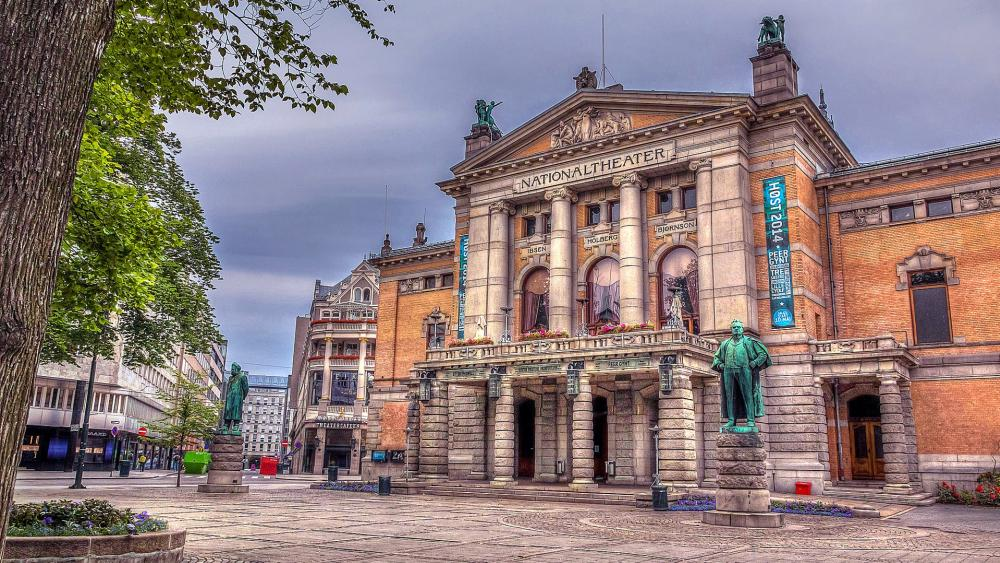 National Theatre in Oslo (Nationaltheatret) wallpaper