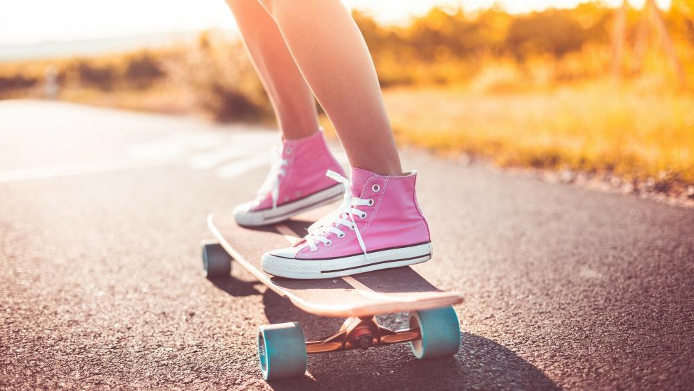 Skateboarding girl wallpaper