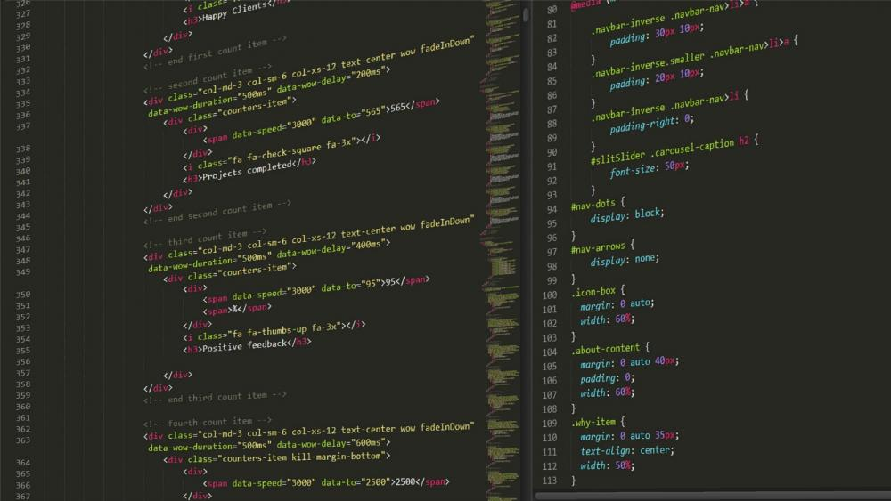 HTML CSS Code wallpaper