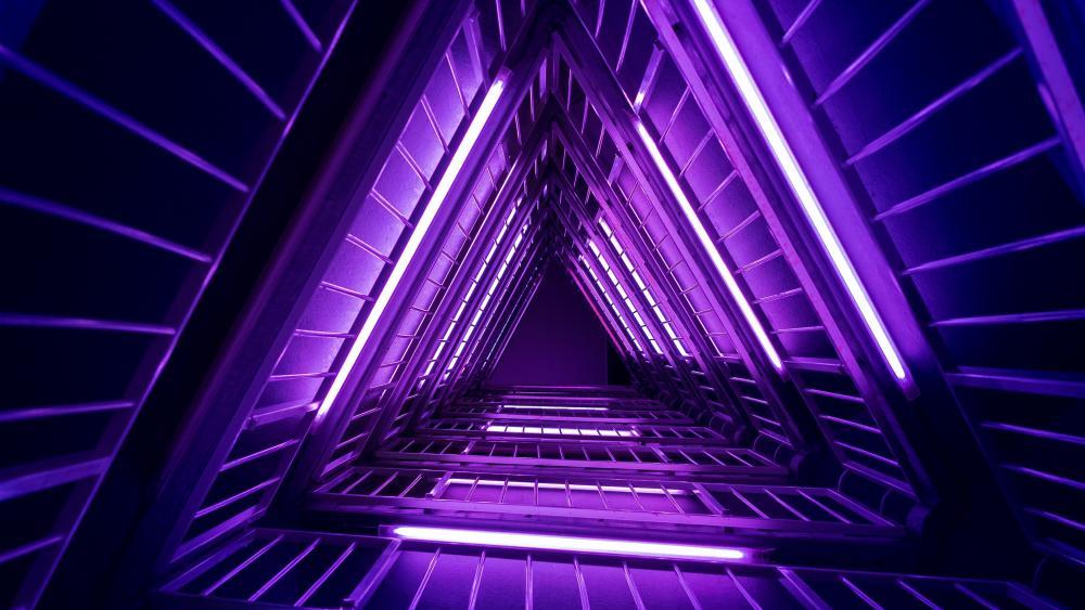 In a triangular loop wallpaper