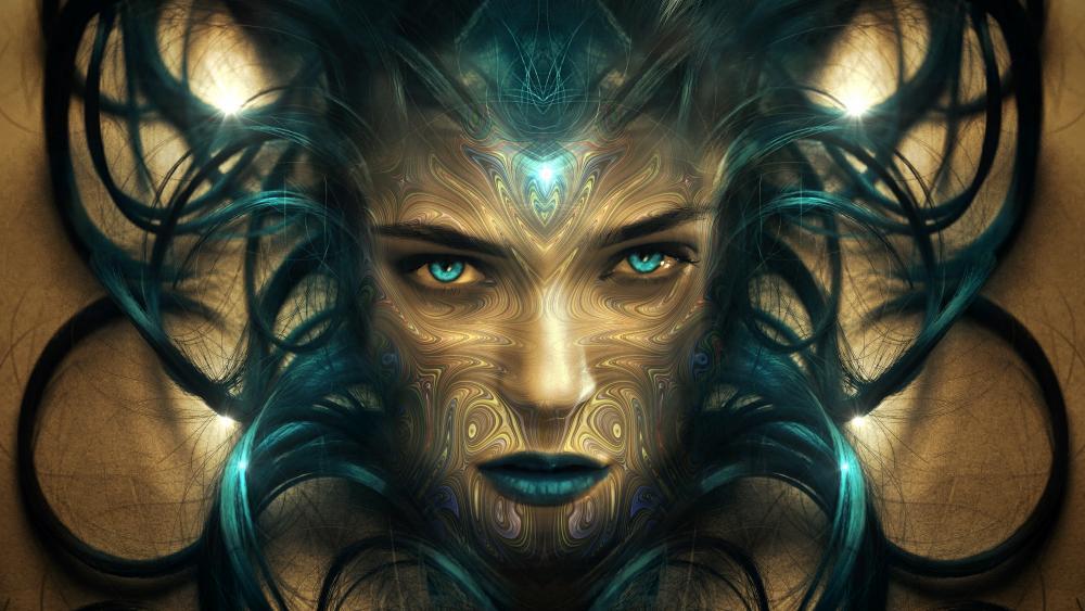 Fantasy woman portrait wallpaper