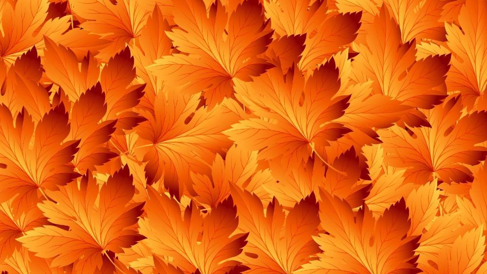 Yellow leaves pattern wallpaper