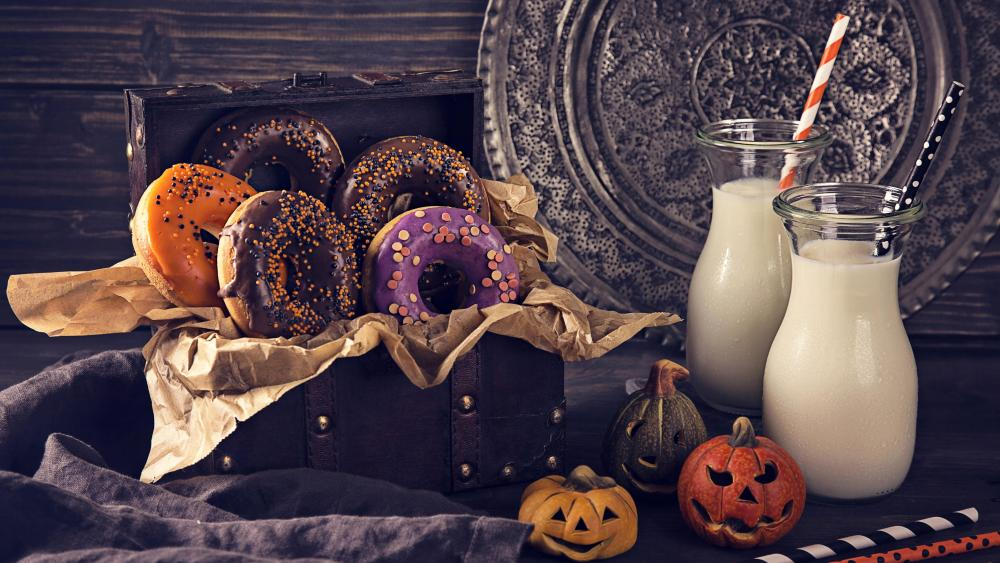Halloween donuts 🍩 wallpaper