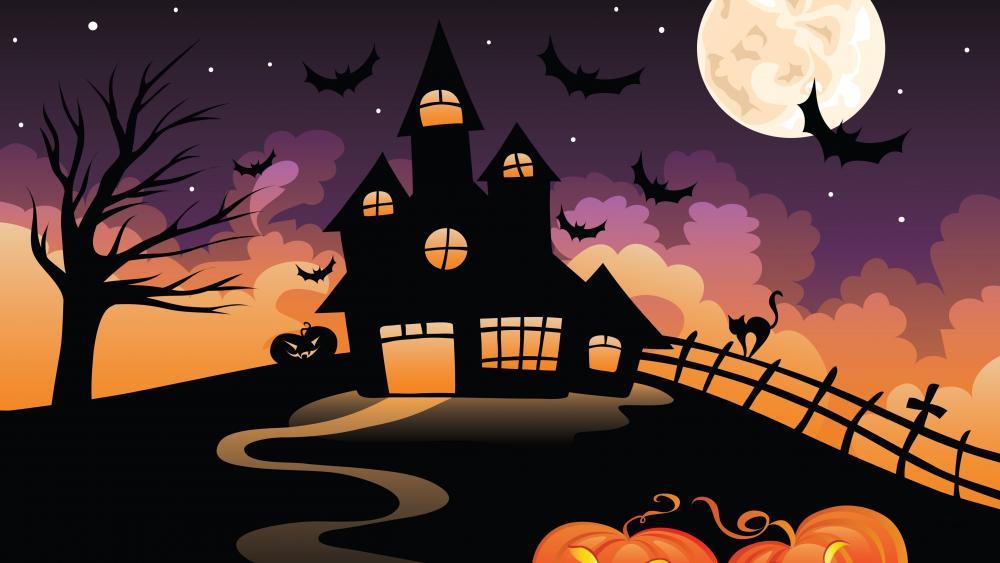 Halloween illustration wallpaper
