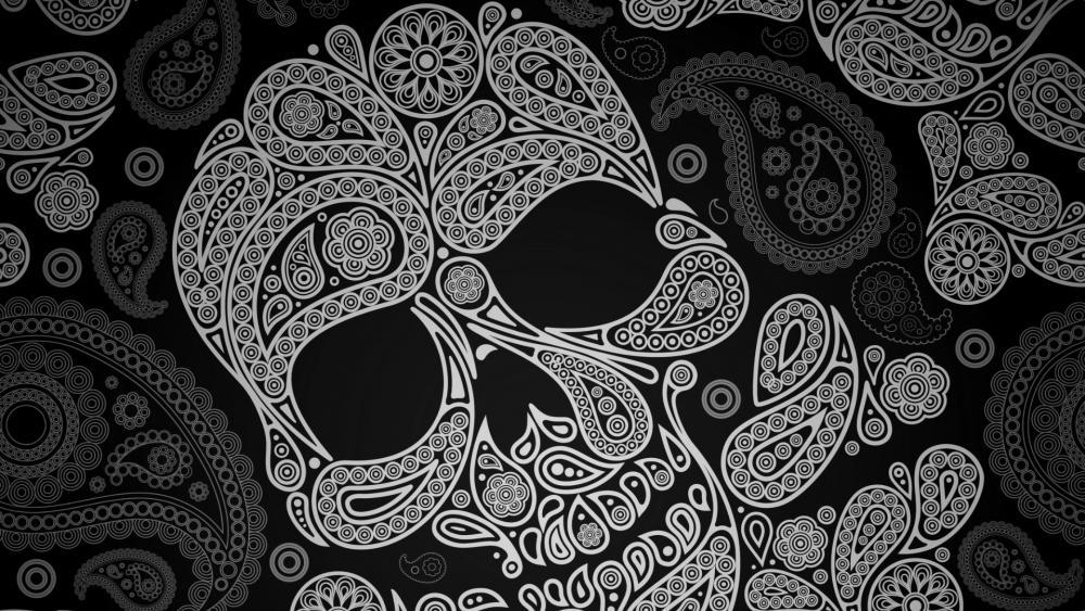 Dia de muertos sugar skull wallpaper