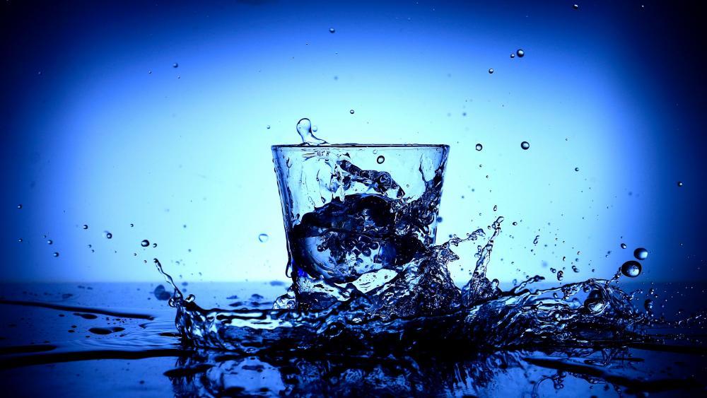 Glass of water wallpaper