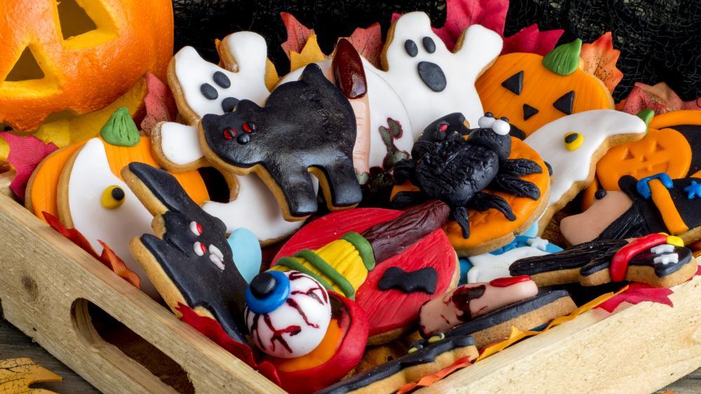 Halloween sweeties wallpaper