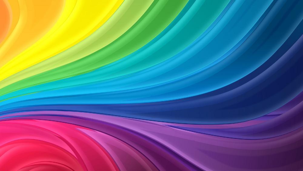 Rainbow art wallpaper