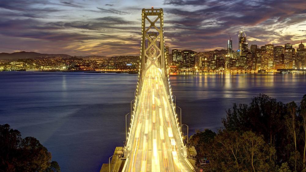 San Francisco–Oakland Bay Bridge wallpaper