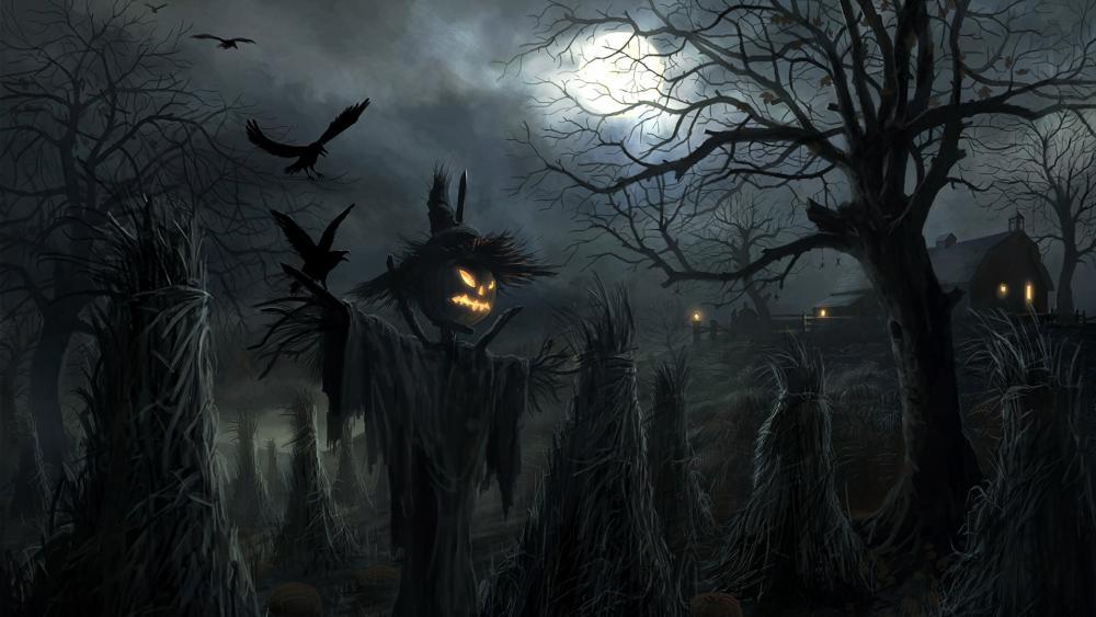 Halloween scarecrow wallpaper