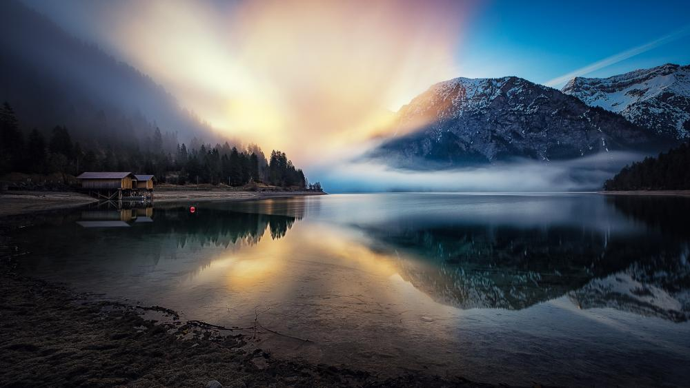 Lake Plansee wallpaper