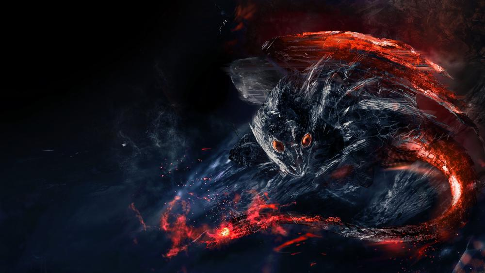 Red-eyed dragon wallpaper