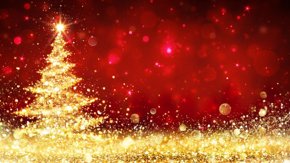 Glittering Christmas wallpaper