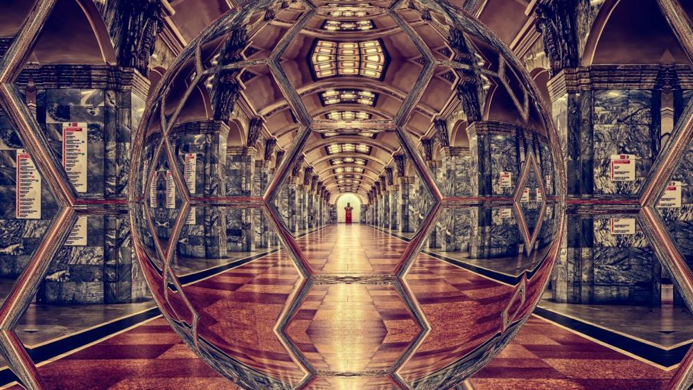 Mirrored Palace wallpaper