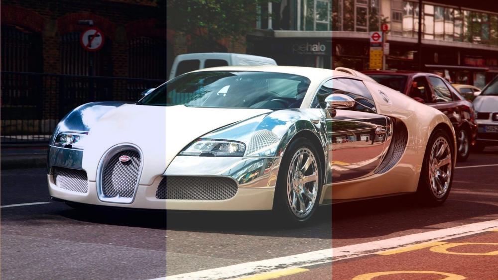 Bugatti in French Flag wallpaper