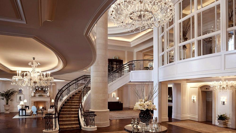 Interior of an elegant house wallpaper