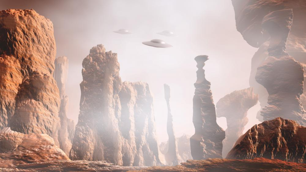 Martian landscape wallpaper