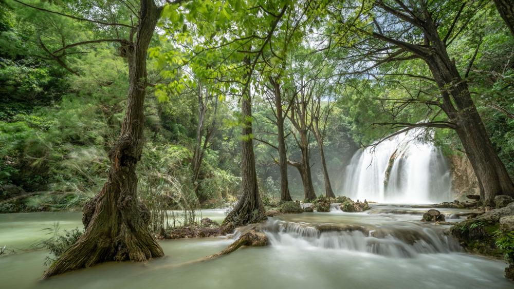 Waterfall in El Chiflon in Chiapas, Mexico wallpaper