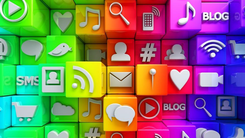 Social icons wallpaper