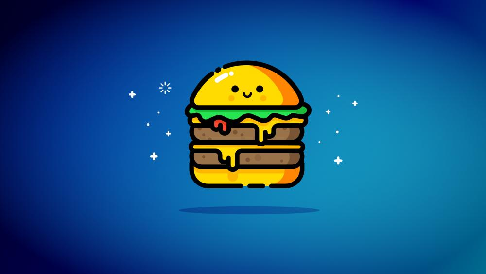 Hamburger icon wallpaper