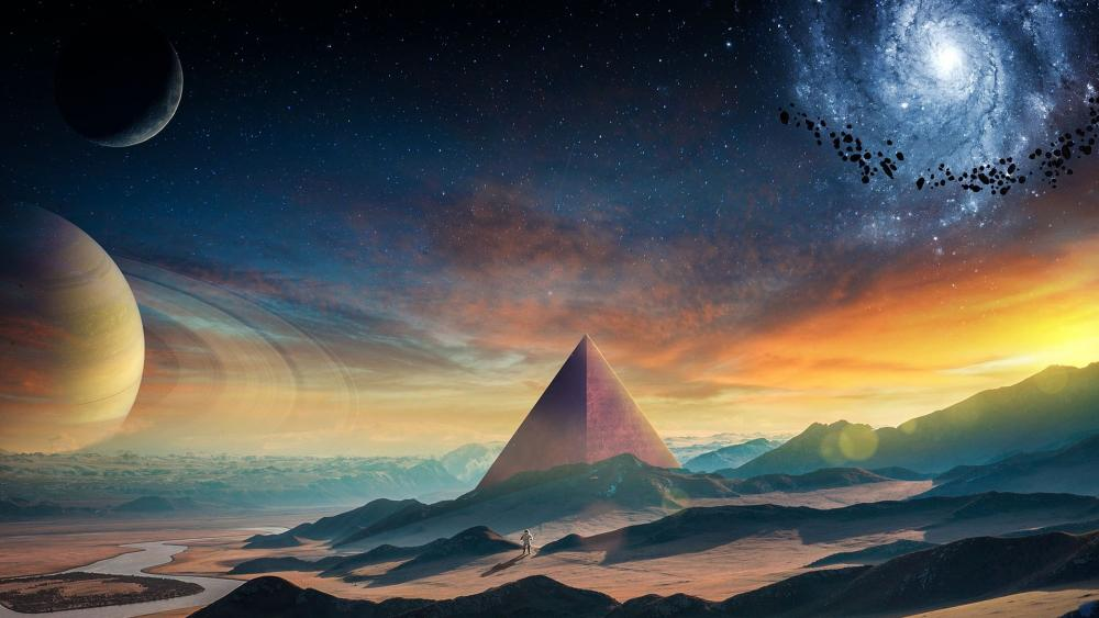 Pyramid fantasy art wallpaper