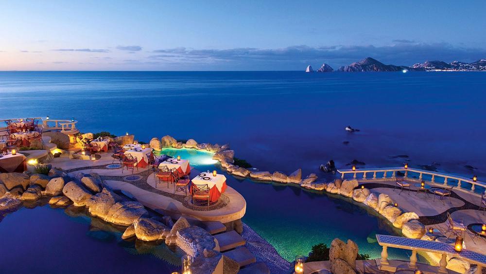 Sunset Monalisa restaurant – Cabo San Lucas, Mexico wallpaper