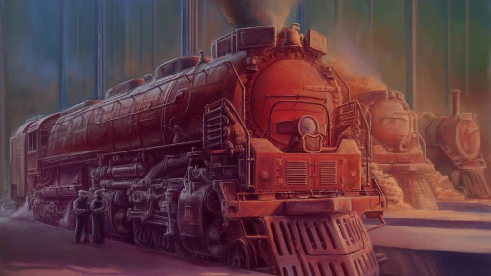 Fantasy locomotive wallpaper