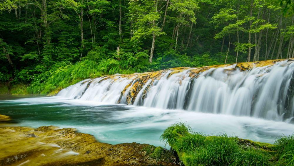 Harmonica waterfall wallpaper