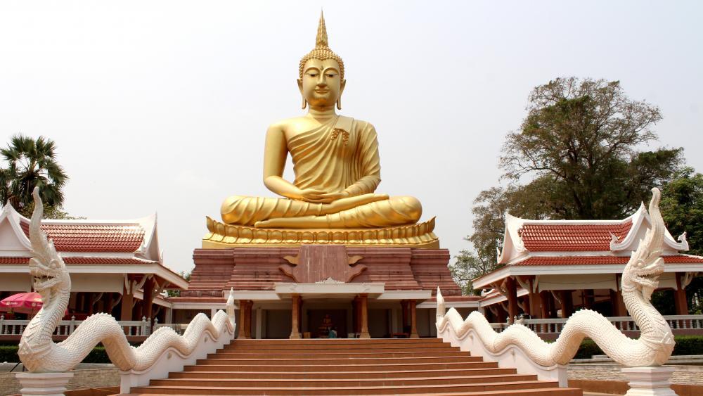 Golden Gautama Buddha wallpaper