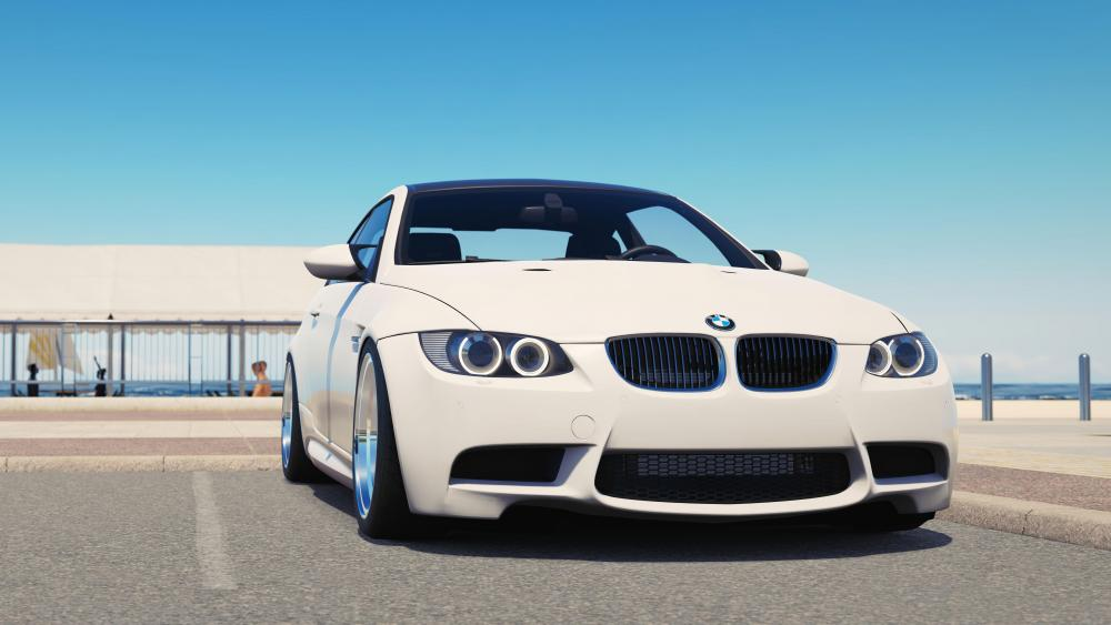 White BMW wallpaper