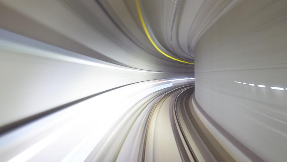 Underground Tunnel time laps photo wallpaper