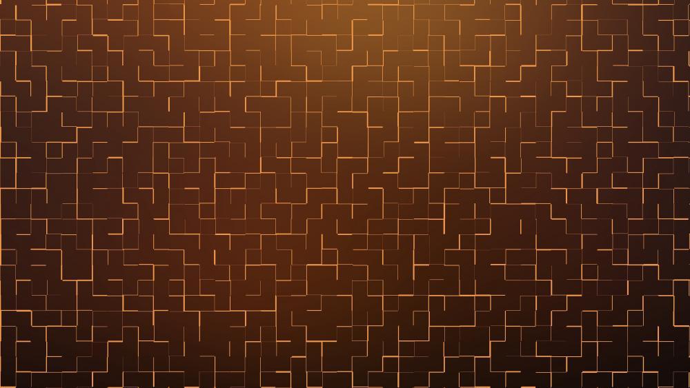 Golden maze wallpaper