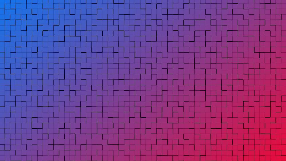 Gradient brickwork pattern wallpaper