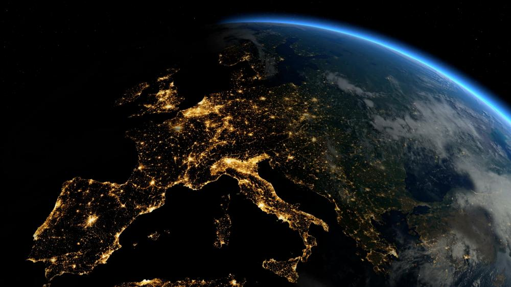 Europe by Night & Day wallpaper