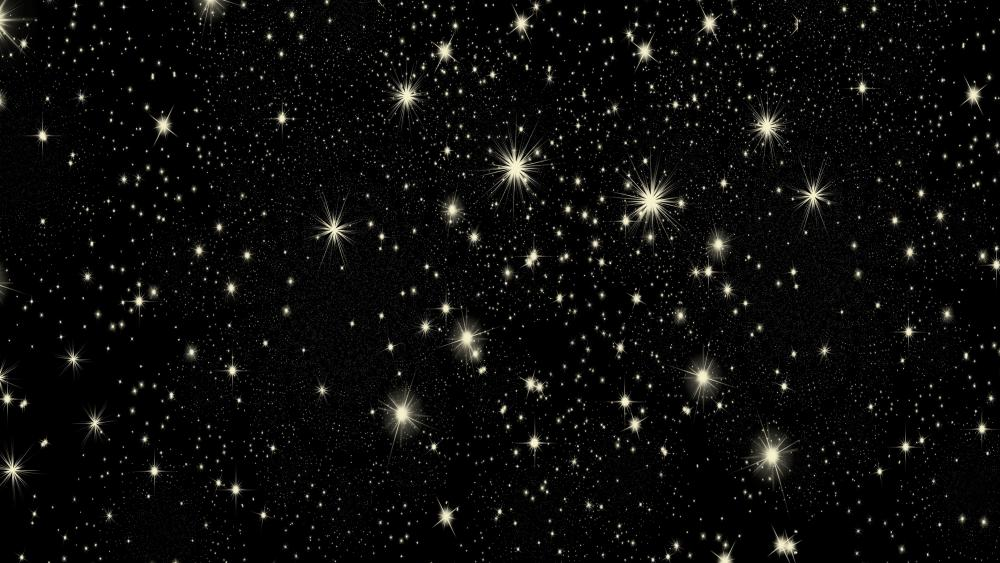 Glowing stars wallpaper